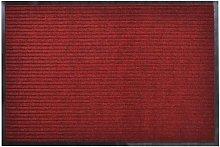 Red PVC Door Mat 90 x 150 cm - Red