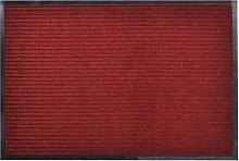 Red PVC Door Mat 90 x 60 cm - Red