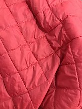 RED Quilted Fabric Lining Jackets Material Dress