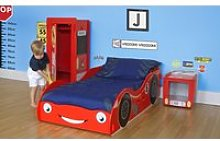 Red Racing Car Children's Mini Wardrobe