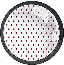 Red Rhombus Pattern, Modern Minimalist Printing