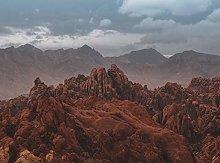 Red Rock Canyon wilderness-60x80cm,DIY 5D Diamond