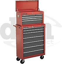 Red Sealey 13 Drawer Top Chest Box Roller Roll
