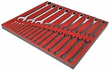 Red Shadow Foam (30mm Depth) - Tool Organiser -