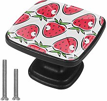 Red Strawberry Drawer Pulls Handle Cupboard