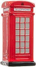 Red Telephone Box Ceramic Cookie Jar