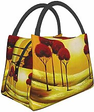Red Tree Sunset Colorful Antelope Insulated Lunch