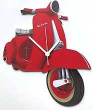 Red Vespa Scooter Clock - MS11