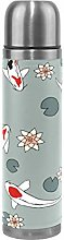Red White Grey Fish Water Bottle Stainless Steel
