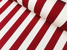 Red & White Striped DRALON Outdoor Fabric Acrylic