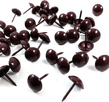 RED WINE/GOLD POWDER COATED UPHOLSTERY PINS - 11mm