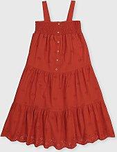 Red Woven Midi Dress - 4 years