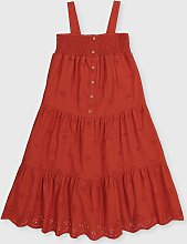 Red Woven Midi Dress - 5 years