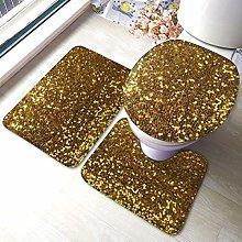 RedBeans Best Gold Glitter Non Slip Bath Mat 3