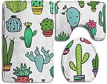 RedBeans Cartoon Cactus Bath Mat Bathroom Carpet