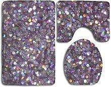 RedBeans Glitter Sparkles Shimmer Flannel Bathroom