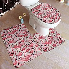 RedBeans Non Slip Bath Mat 3 Piece Flannel