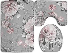 RedBeans Seamless Pattern With Pink Flowers And