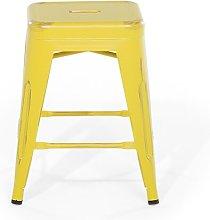 Redcar Bar Stool Williston Forge Colour: Yellow,