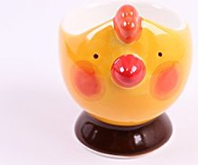 redchocol8® Ceramic Yellow Chicken Egg Cup Hand