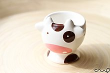 Redchocol8(R) Lovely Cute Hand Painted Cow Egg Cup
