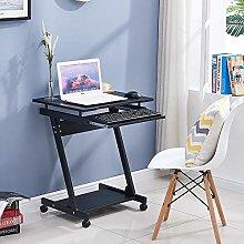 Redd Royal Black Computer Desk with Keyboard Tray