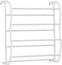 Redd Royal Over the Door Shoe Rack, White 4-Tier