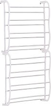 Redd Royal Over the Door Shoe Rack, White 8-Tier