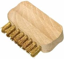 Redecker - 7cm Wooden Suede Shoe Brush With Brass