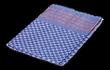 Redecker - Tea Towel Blue W/Red Stripes - linen  