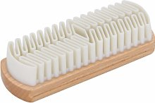 Redecker - Wooden Suede Crepe Shoe Brush With