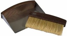 Redecker - Wooden Table Sweeping Set - Wood/Silver