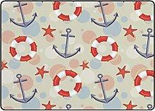 Redecor Kids Nusery Play Mat Area Rug Nautical