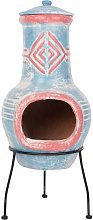 RedFire Fireplace Colima Clay Sea Blue/Red