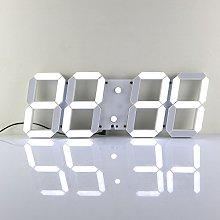 Redlution Large LED Digital Wall Clock 3D Design