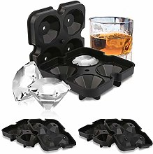 Redmoo ice Cube molds Made of Silicone, 3 Pieces