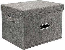 Redmoo storage box, foldable linen cloth clothes