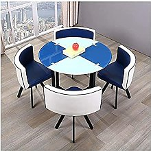 redRound Dining Table and Chair Set Home Dining