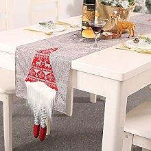 Redsa Christmas Table Runner 6ft Linen Table Mat