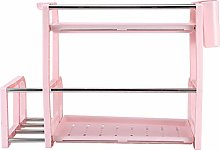 Redxiao Pink Durable Spice Rack, Storage Rack 2