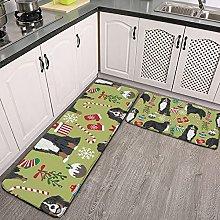 Reebos 2 Pcs Kitchen Rug Set, bernese mountain