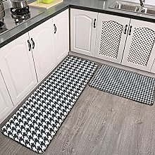 Reebos 2 Pcs Kitchen Rug Set, Classic Houndstooth