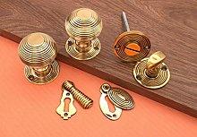 Reeded Beehive Rim Mortice Door knob 50MM with