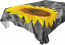 REFFW Table Cloth Table Cover Sunflower Gray