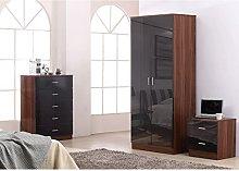 Reflect 3 Piece Bedroom Furniture Sets - 2 Door