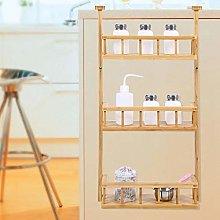 Refrigerator Hanging Shelf, 3 Tier Bamboo Kitchen