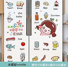 Refrigerator Sticker 3D Creative Cartoon Removable