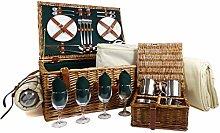 Regal 4 Person Luxury Picnic Basket Hamper - Gift