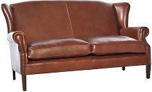 Regalado Leather 3 Seater Sofa Rosalind Wheeler