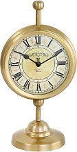 Regan Vintage Clock In Yellow Gold Finish